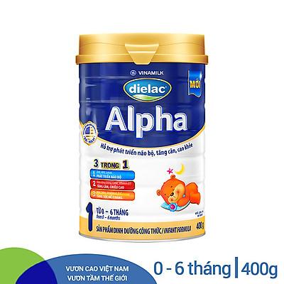 Sữa Bột Vinamilk Dielac Alpha 1 - Hộp Thiếc 400g