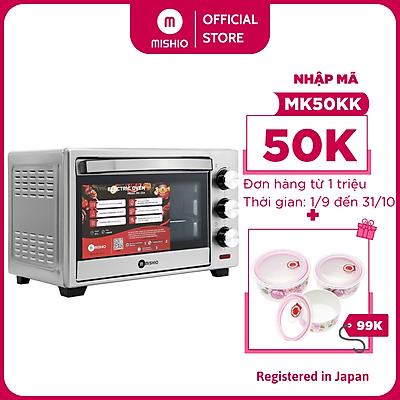 Lò nướng điện vuông vỏ inox Mishio MK254 (25L) - Hàng chính hãng