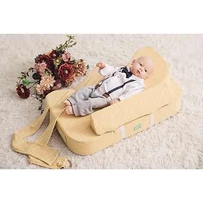 Gối chống trào ngược 15 độ Babylux cho bé sơ sinh - phiên bản cho bé nằm bú+ hỗ trợ bế bé ( mã BL10)