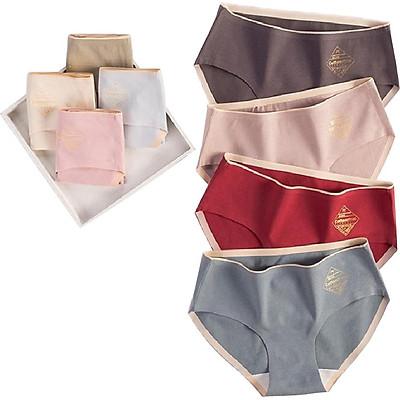 COMBO 8 QUẦN LÓT NỮ CAO CẤP không đường may, quần chíp mặc trong váy cotton co dãn cực mềm mịn L-3010