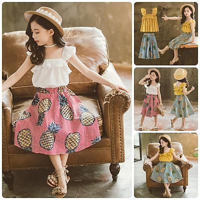 VT60 Size100-140 (12-30kg) Váy đầm bé gái - Kiểu dáng công chúa Thời trang trẻ Em hàng quảng châu
