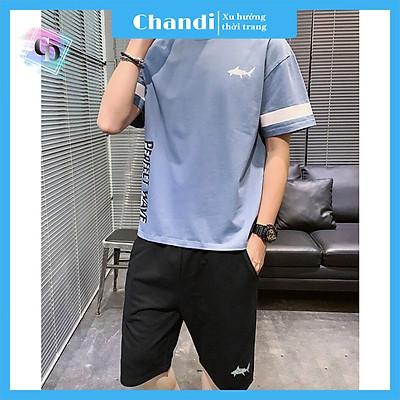 Đồ Bộ Thể Thao Nam thương hiệu Chandi, Đồ Bộ Mặc Nhà chất liệu thun cao cấp mát mẻ, thấm hút mồ hôi tốt MS906