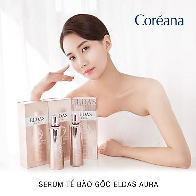 Serum Tế Bào Gốc Dưỡng Trắng Da Eldas Aura Coreana Shine Gold Pearl Premium Peptide All In One