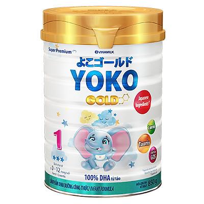 Sữa Bột Vinamilk Gold Yoko 1 850g Dành Cho Bé Từ 0 - 1 Tuổi