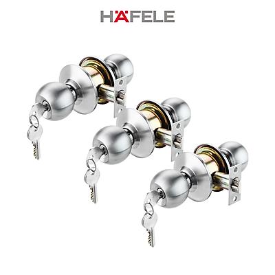 Bộ khóa 3 ổ khóa tròn và chìa chủ Hafele - 489.93.252 (Hàng chính hãng)