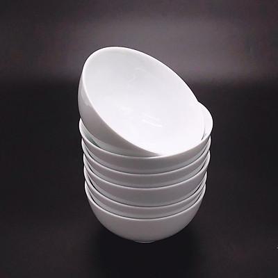 Bộ 6 bát ăn cơm trắng trơn cao cấp