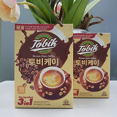 Cà phê hòa tan 3in1 vị nhẹ Tobik