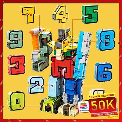 Đồ Chơi Lắp Ghép Bộ Chữ Số Biến Hình Từ 1 2 3 4 5 6 7 8 9 Thành Robot