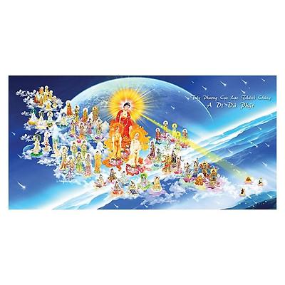 Tranh Phật Giáo Tây Phương Tiếp Dân 2464 (30 x 60 cm)
