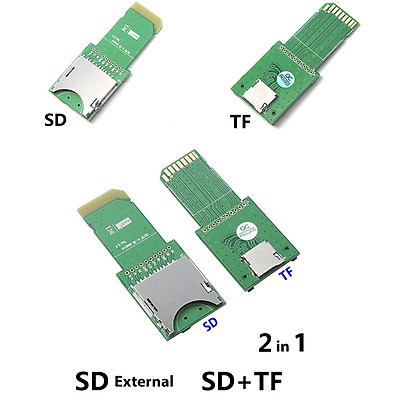 2 in 1 TF/SD to SD Card Extension Board SD TF Test Card Extension Board PCB