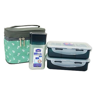 Bộ Túi Hộp Cơm Lock&Lock Folding Paper Pattern Bag HPL758S3B