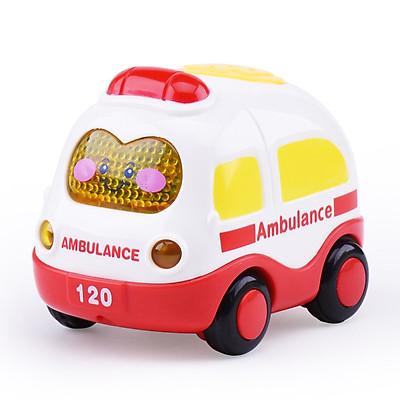 đồ chơi ô tô quán tính KAVY  mô tả xe cứu hỏa, cứu thương, cảnh sát, taxi đẹp và dễ thương có đèn và nhạc
