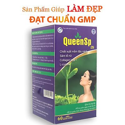 QueenSP - Viên uống bổ sung nội tiết tố tự nhiên, Giúp duy trì và cân bằng nội tiết tố, Ngăn ngừa quá trình lão hóa, giúp da trắng đẹp, khỏe mạnh ( Hộp 60 viên)