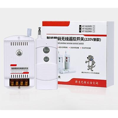 Bộ công tắc điều khiển từ xa không dây công suất lớn 40A (3500W) 220V khoảng cách 1KM HT-9220KG có chức năng học lệnh
