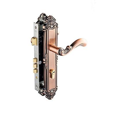 Ổ khoá cửa tay nắm (tay gạt) Huy Hoàng Con Voi EX8529 2 đầu chìa dành cho cửa chính / EX5829 1 đầu chìa dành cho cửa thông phòng, làm từ hợp kim mạ đồng đỏ giả cổ, chìa vi tính tránh bị trùng chìa