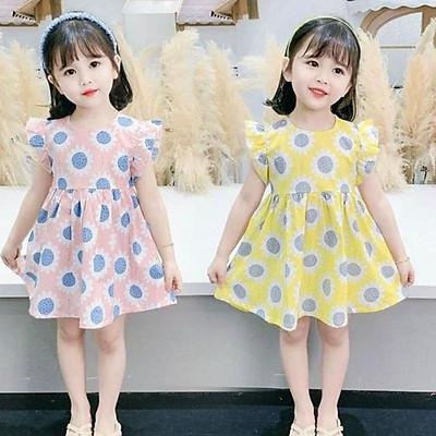 váy hoa mặt trời bé con