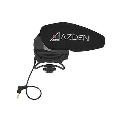 Micro Đơn Azden SMX-30 Âm Thanh Nổi Có Thể Chuyển Đổi Đáp Ứng Tần Số Rộng Độ Ồn Thấp Đế Chống Sốc Cho Máy Ảnh Canon Nikon Sony DSLR ILDC