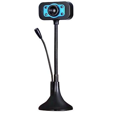 Webcam KM 720p HD hình ảnh và micro trên 1 đầu USB - tích hợp 4 đèn led trợ sáng (nhiều màu)