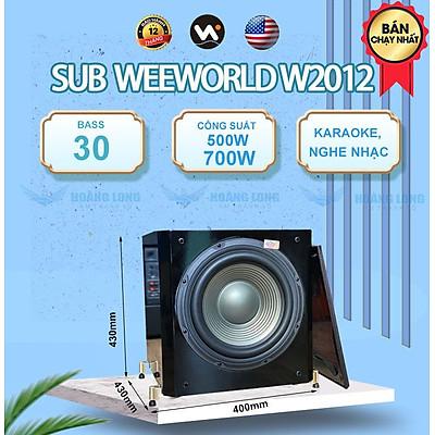 Loa sub điện 2012 Plus  + Bass 30 - Hàng chính hãng Weeworld