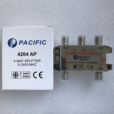 Bộ Chia 4 Pacific 4204AP Dùng Chia Chảo, Truyền Hình Cáp, Anten KTS - Hàng Nhập Khẩu