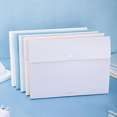 Cặp đựng tài liệu A4 Deli - 8 ngăn phân trang - file lưu trữ tài liệu - linfini - Xanh Dương / Trắng - 72456