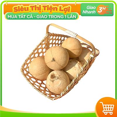 [Chỉ giao HCM] - Dừa Xiêm Xanh Bến Tre Gọt Trọc size Trung - được bán bởi TikiNGON - Giao nhanh 3H