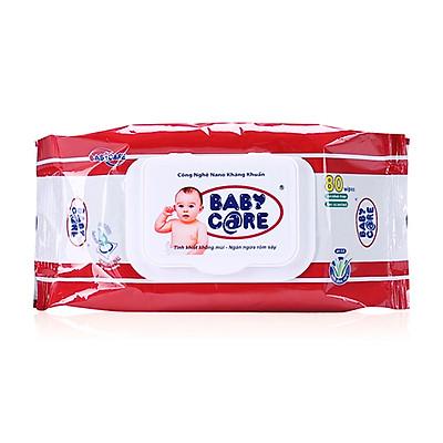 Khăn ướt Baby Care 80 Tờ Không mùi