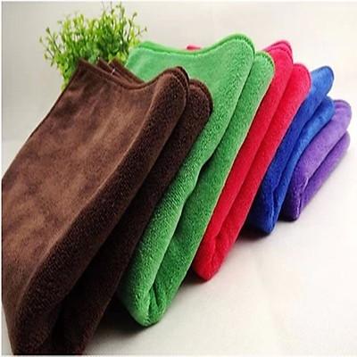 Bộ 5 khăn lau xe hơi cao cấp siêu sạch siêu thấm hút, hàng loại 1 dày đẹp KT 35x75cm (Giao nhiều màu)