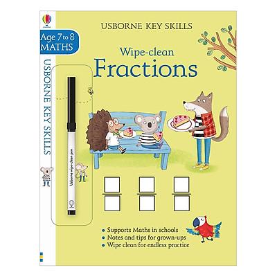 Sách tẩy xóa tiếng Anh - Usborne Usborne Key Skills Wipe-clean Fractions 7-8