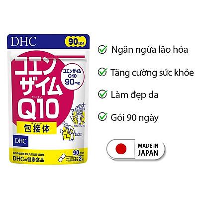 Viên uống chống lão hóa da DHC Nhật Bản Coenzyme Q10 thực phẩm chức năng bổ sung vitamin C làm đẹp da, hỗ trợ não bộ JN-DHC-COE