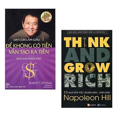 Combo 2 Cuốn Sách Kỹ Năng Làm Việc Hay: 13 Nguyên Tắc Nghĩ Giàu Làm Giàu - Think And Grow Rich (Tái Bản) + Dạy Con Làm Giàu (Tập 1) - Để Không Có Tiền Vẫn Tạo Ra Tiền - Tái Bản / Những Cuốn Sách Kinh Tế Hay - Tặng Kèm Bookmark Happy Life