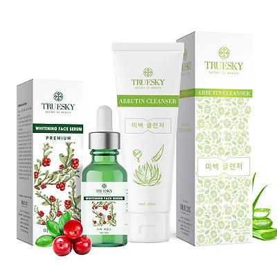 Bộ sản phẩm chăm sóc da mặt Truesky VIP17 gồm 1 serum dưỡng trắng 15ml + 1 sữa rửa mặt trắng da 60ml