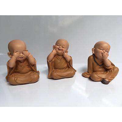 Bộ tượng 3 chú tiểu tam không ngồi