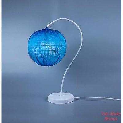 Đèn bàn gỗ hoa lồng đèn vải lụa Hà Đông, đèn trang trí nội thất, đèn để bàn phòng ngủ hàng chính hãng.