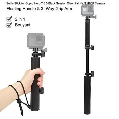 3 Way Grip Waterproof Monopod Selfie Stick for Gopro Hero 7 6 5 Black Session Xiaomi Yi 4K SJ4000 Camera Tripod Accessory