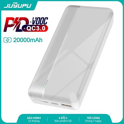 Pin sạc dự phòng JUYUPU PQ2C 20000mAh sạc nhanh PD QC3.0 22.5W đèn led báo hiệu cho iPhone Samsung OPPO VIVO HUAWEI XIAOMI - HÀNG CHÍNH HÃNG