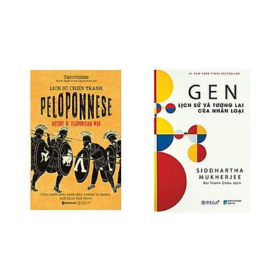 Combo Sách Lịch Sử: Gen Lịch Sử Và Tương Lai Của Nhân Loại + Lịch Sử Chiến Tranh Peloponnese