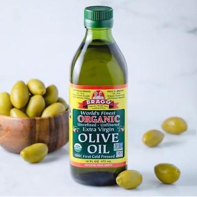 Dầu Olive hữu cơ Bragg (giống cổ Koroneiki Hi Lạp thượng hạng ) 946ml - Extra Virgin Olive Bragg 946ml
