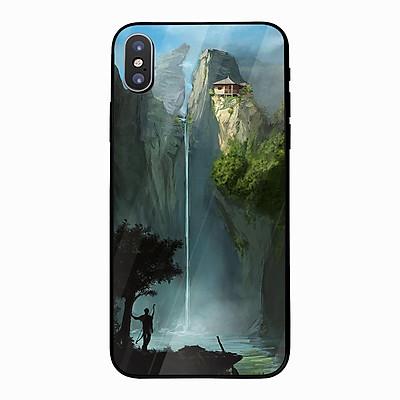 Ốp kính cường lực cho điện thoại iPhone XS MAX - Dưới thác nước MS ADGDA005