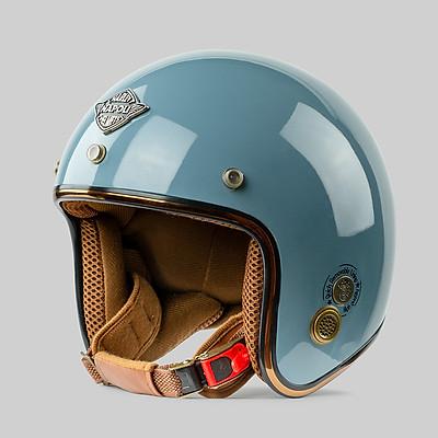 Mũ Bảo Hiểm ¾ Napoli Sh2 Ruby Xanh Mint Free Size 55-58cm