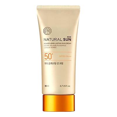 Kem Chống Nắng Đa Năng The Face Shop Natural Sun Eco Power Long Lasting Sun Cream Spf50+ Pa+++ 80ml