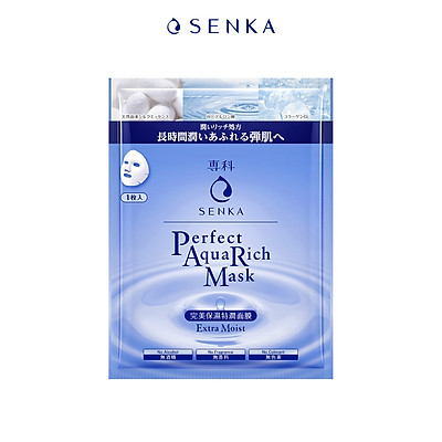 Mặt nạ cấp ẩm Senka Perfect Aqua Rich Mask Extra Moist 23g