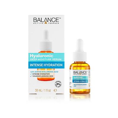 Serum cấp ẩm Balance Active Formula Hyaluronic deep moisturiser, intense hydration, 554 Youth Serum, cấp ẩm tăng cường, thấm nhanh, sáng da, 30ml, hàng chính hãng