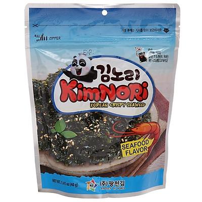 Combo 3 gói Rong biển ăn liền Kimnori vị hải sản 40gr