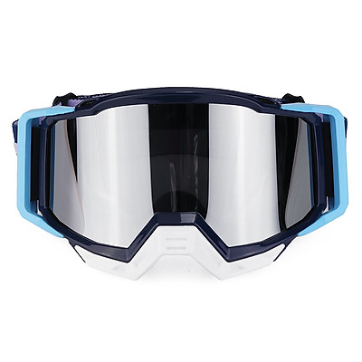 Motorcycle Goggles Motocross Skiing Racing ATV MX Dirt Bike Off Road Eyewear Light Blue T815-191