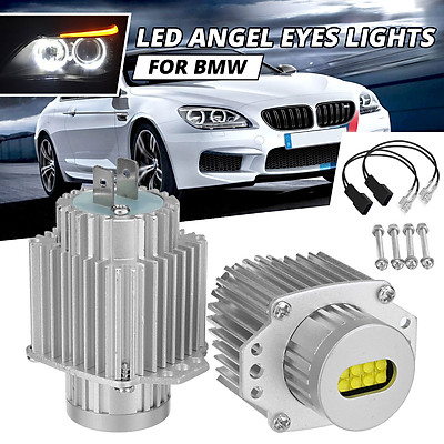 2pcs 80W LED Angel Eyes Marker Halo Ring Light Headlight For BMW 3 Series E90 E91
