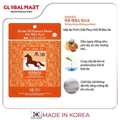 Mặt Nạ Dầu Ngựa Hàn Quốc Tinh Chất Phục Hồi Tế Bào Da  MJCARE Horse Oil Essence Mask23g