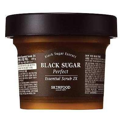 Skinfood Black Sugar Perfect Essential Scrub 2x 210g (Big Size)