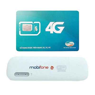 Huawei E8231 | Thiết bị phát wifi 3G Mobifone USB 3G Mobifone + Sim Viettel Trọn Gói 12 Tháng | 5GB/tháng tốc độ cao - Hàng Nhập khẩu