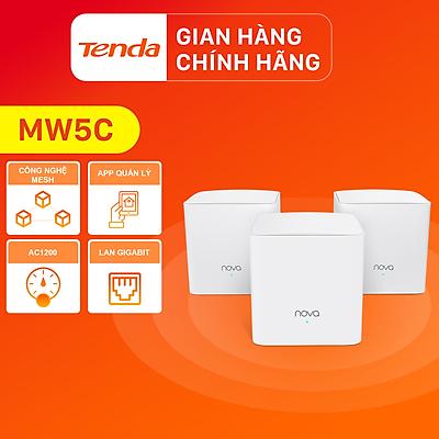 Tenda Hệ thống Wifi Nova Mesh cho gia đình MW5C Chuẩn AC 1200Mbps 3 pack - Hàng Chính Hãng